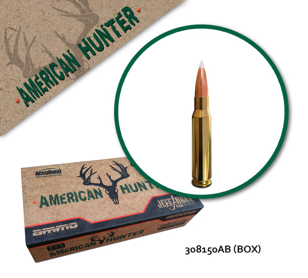 American Hunter 308 Win 150gr AccuBond - 20 Rounds