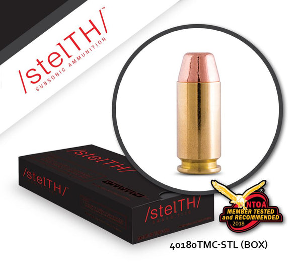 40 S&W STELTH 180gr Total Metal Coating Box of 50 Rounds