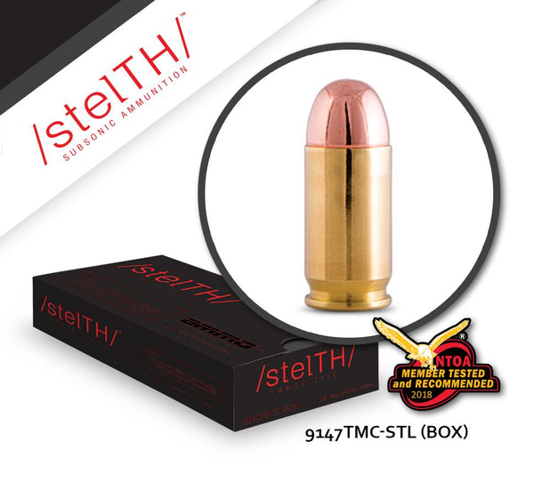 9mm STELTH 147gr Total Metal Coating Box of 50 Rounds