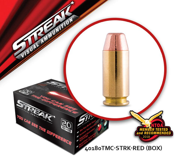 Streak 40 S&W 180 gr Total Metal - Red - Box of 20