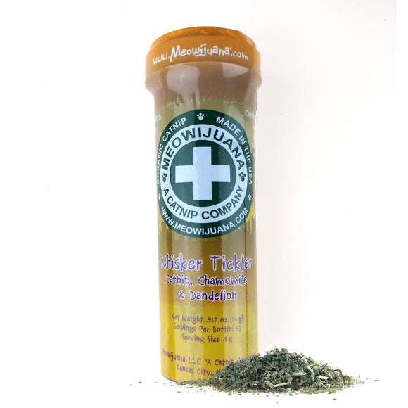 Whisker Tickler - Chamomile, Dandelion, and Catnip blend - Case Pack - 12/case