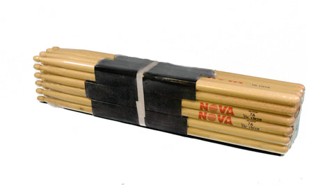 (12-Pairs) Vic Firth® NOVA® 7A Hickory Drumsticks, Wood Sticks, Wood Tip. #N7A