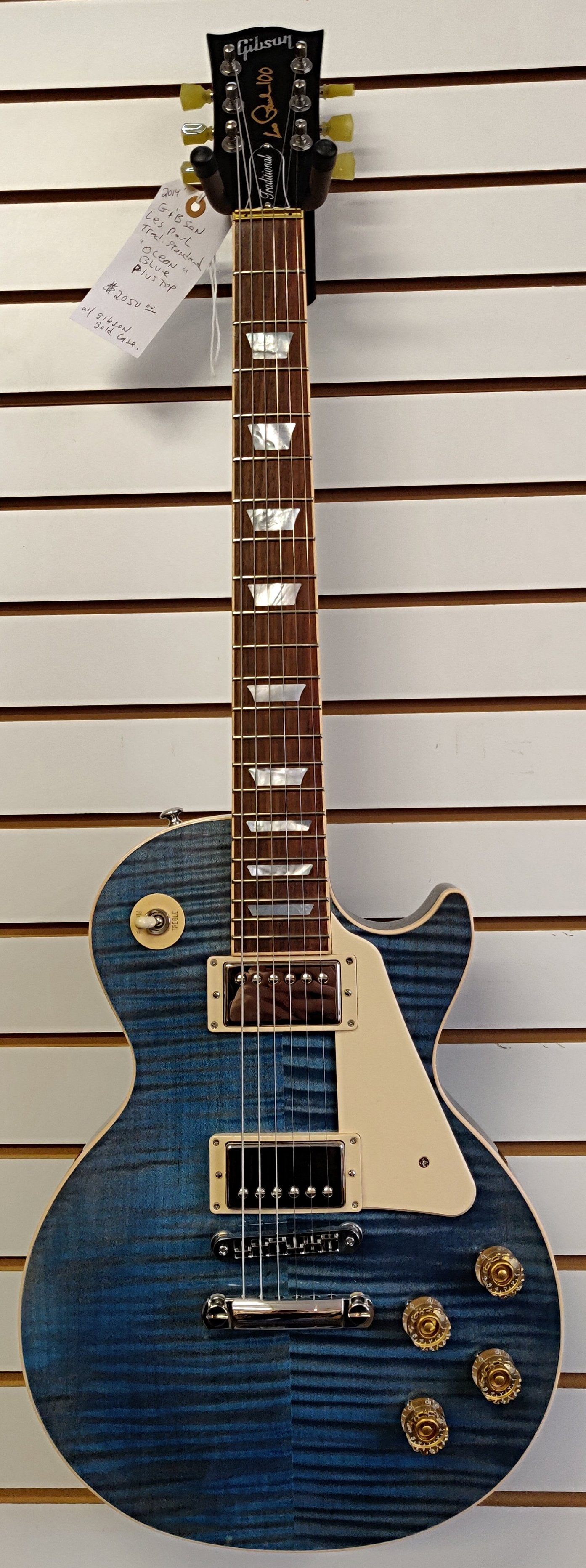 "USED - Gibson Les Paul standard Traditional ""Ocean Blue"" (2015 Model)"