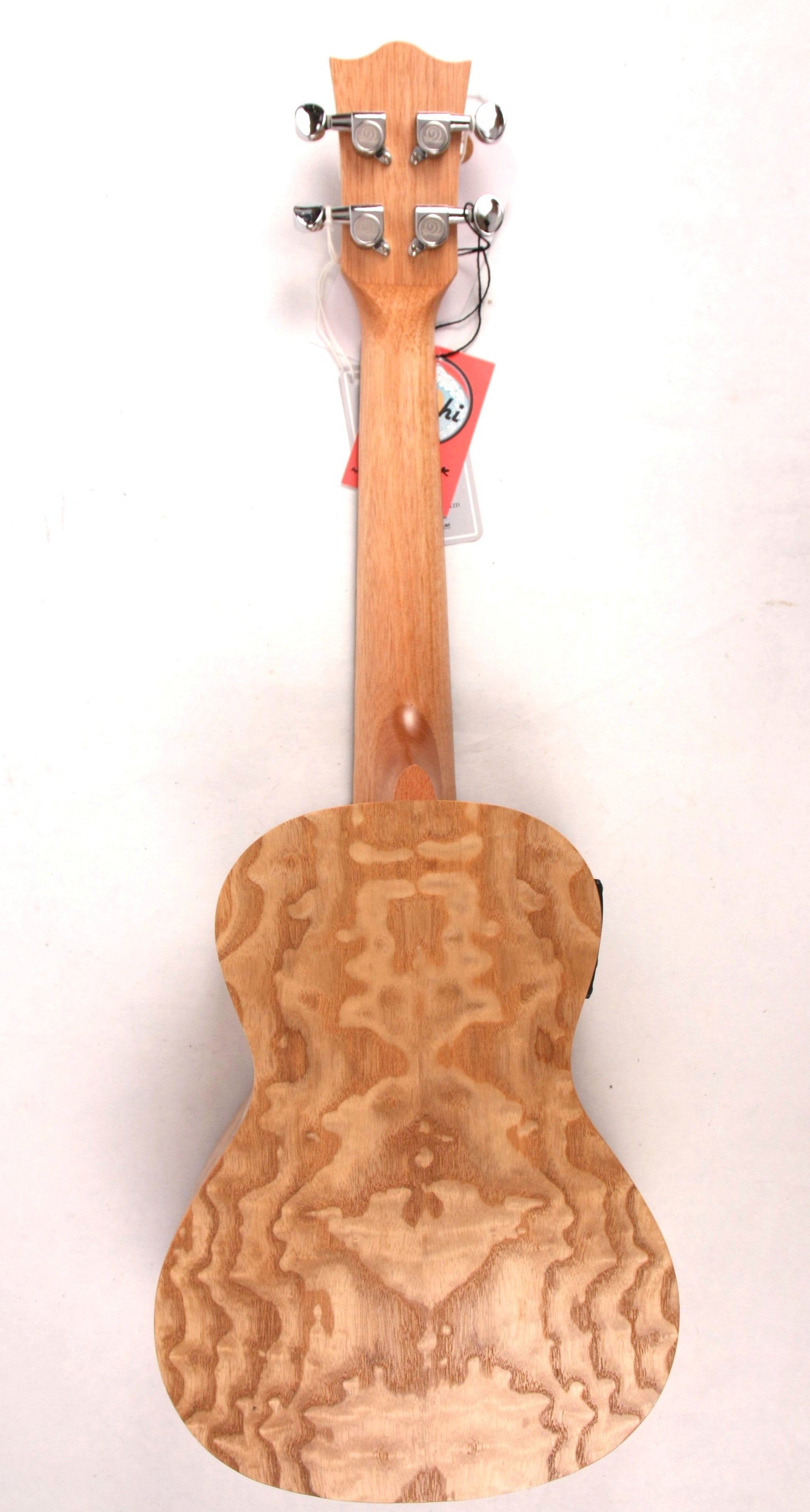Amahi Snail Quilted Ash Acoustic/Electric Concert Ukulele Uke NEW w/ Gig Bag FREE SHIPPING
