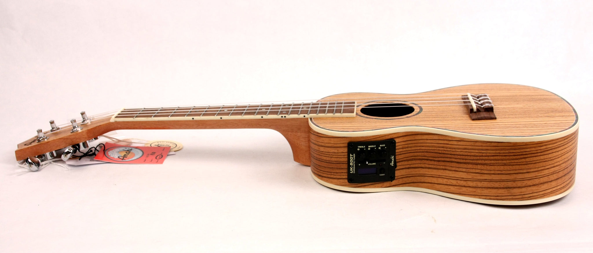 Amahi UK-330-C-EQ Acoustic/Electric Concert Ukulele Uke Zebrawood NEW w/ Gig Bag FREE SHIPPING