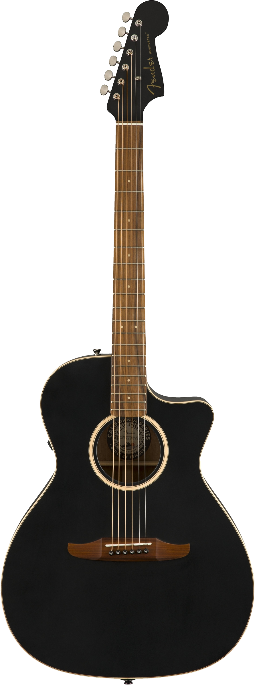 Fender Newporter Special Acoustic / Electric Guitar - Jetty Black
