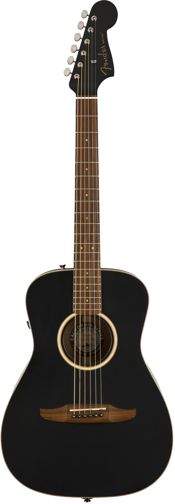 Fender Malibu Special Acoustic / Electric Guitar - Jetty Black