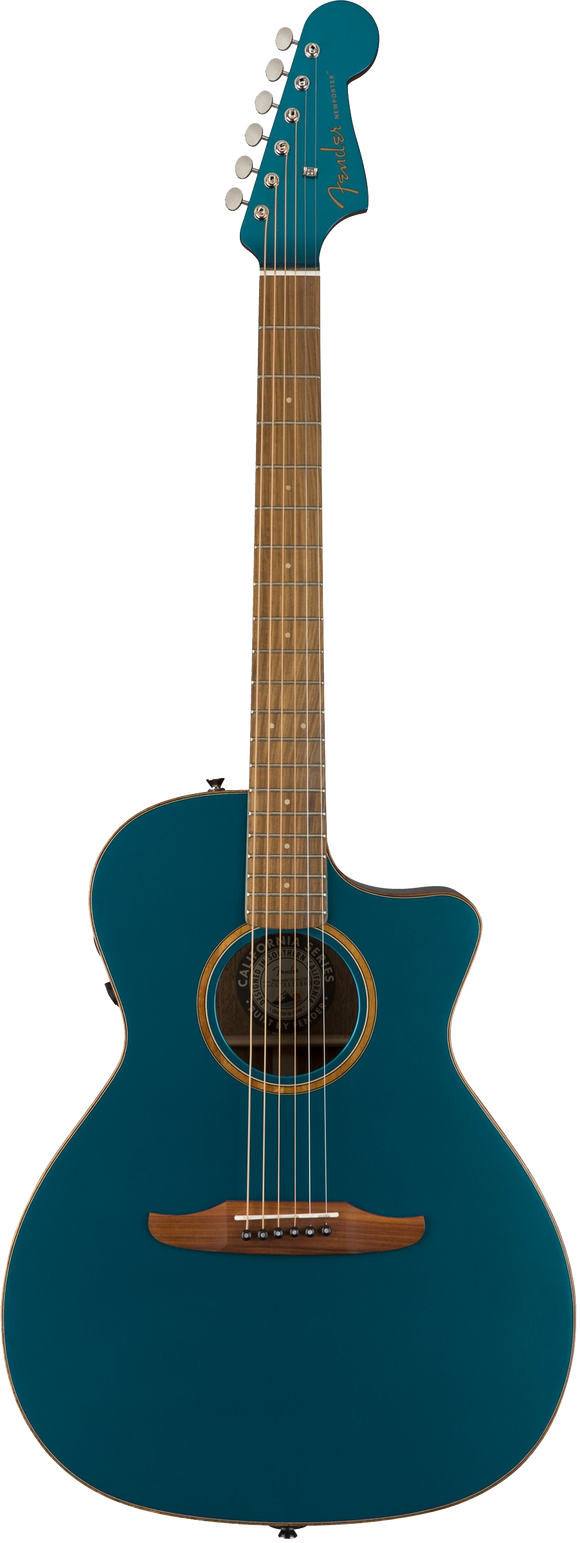 Fender Newporter Classic Acoustic / Electric Guitar - Cosmic Turquoise