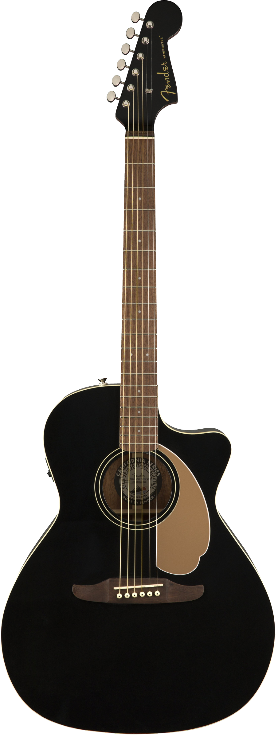 Fender Newporter Player Acoustic / Electric Guitar - Jetty Black