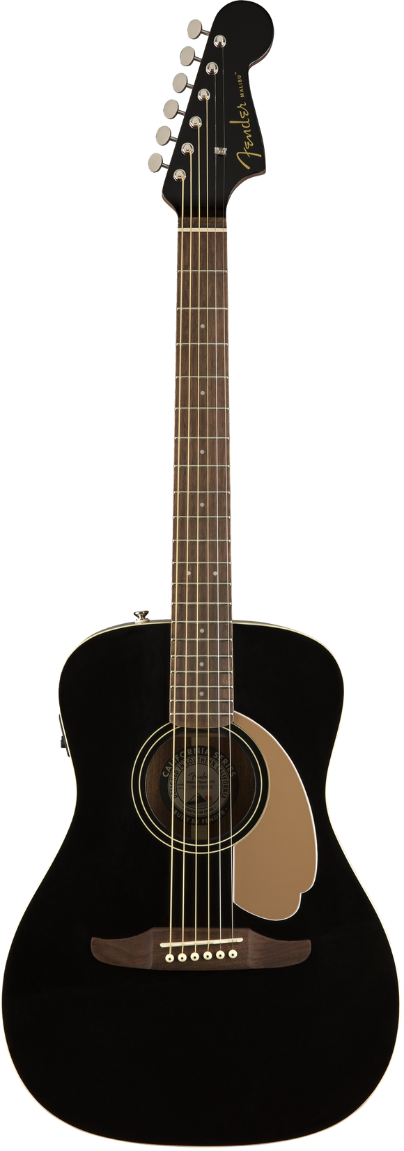 Fender Malibu Player Acoustic / Electric Guitar - Jetty Black