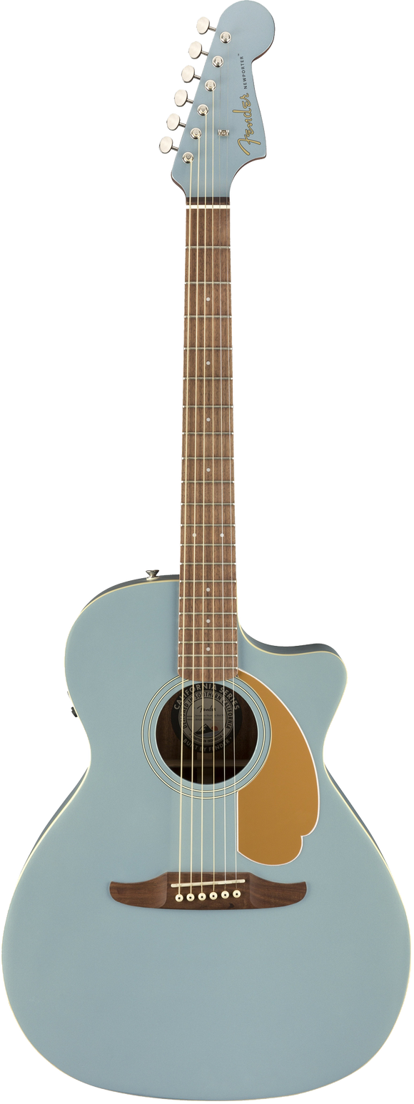Fender Newporter Player Acoustic / Electric Guitar - Ice Blue Satin