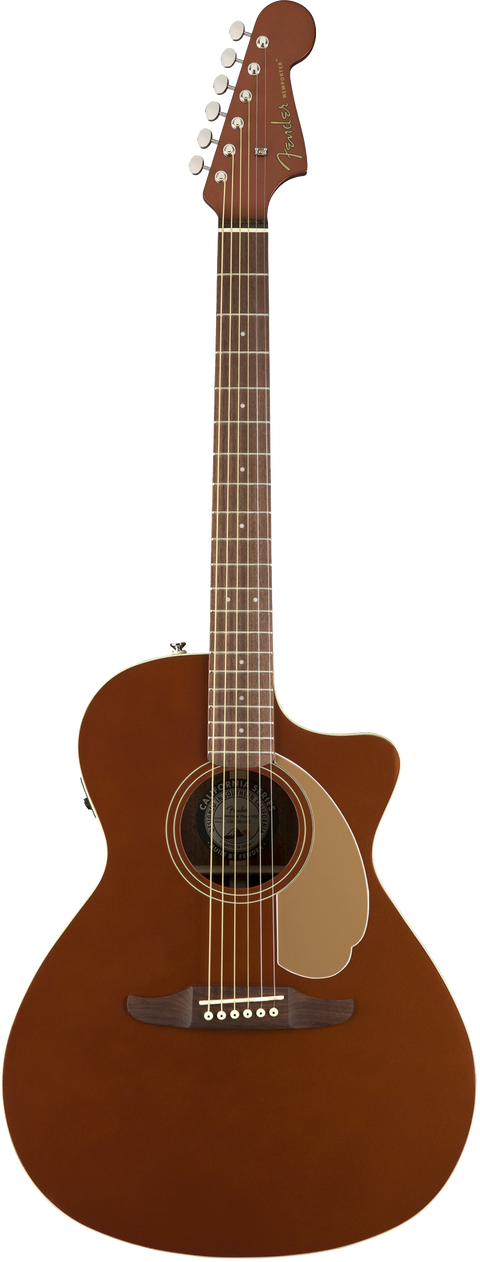 Fender Newporter Player Acoustic / Electric Guitar - Rustic Copper