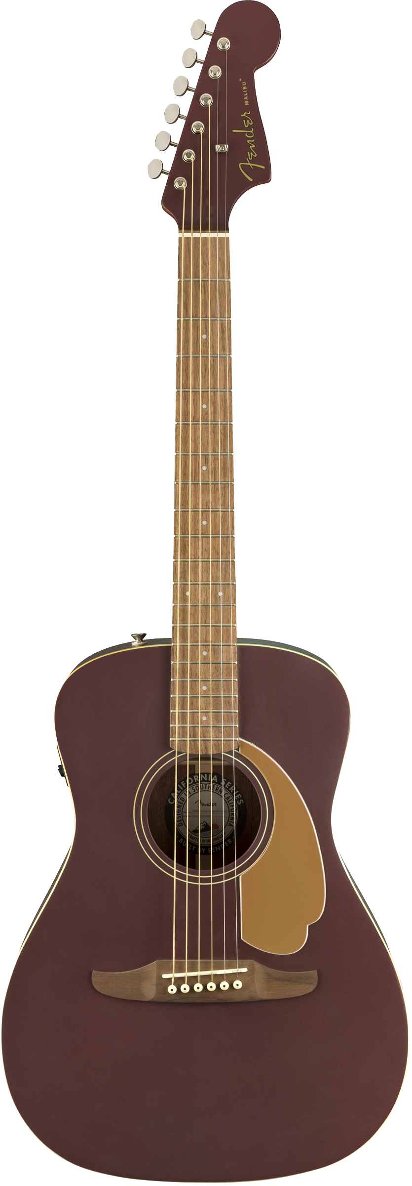 Fender Malibu Player Acoustic / Electric Guitar - Burgundy Satin