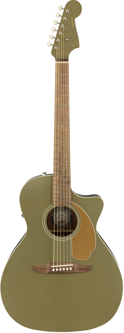 Fender Newporter Player Acoustic / Electric Guitar - Olive Satin