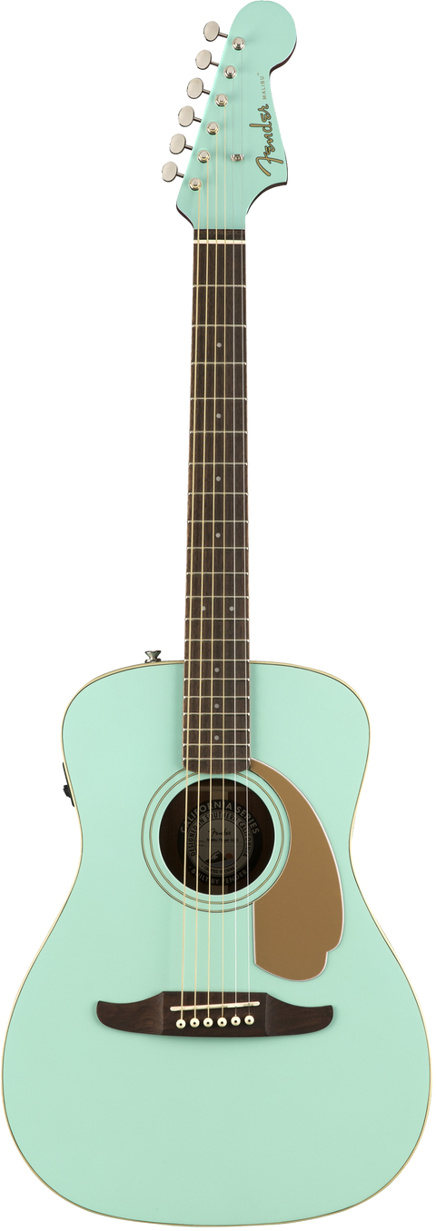 USED - Fender Malibu Player Acoustic / Electric Guitar - Aqua Splash