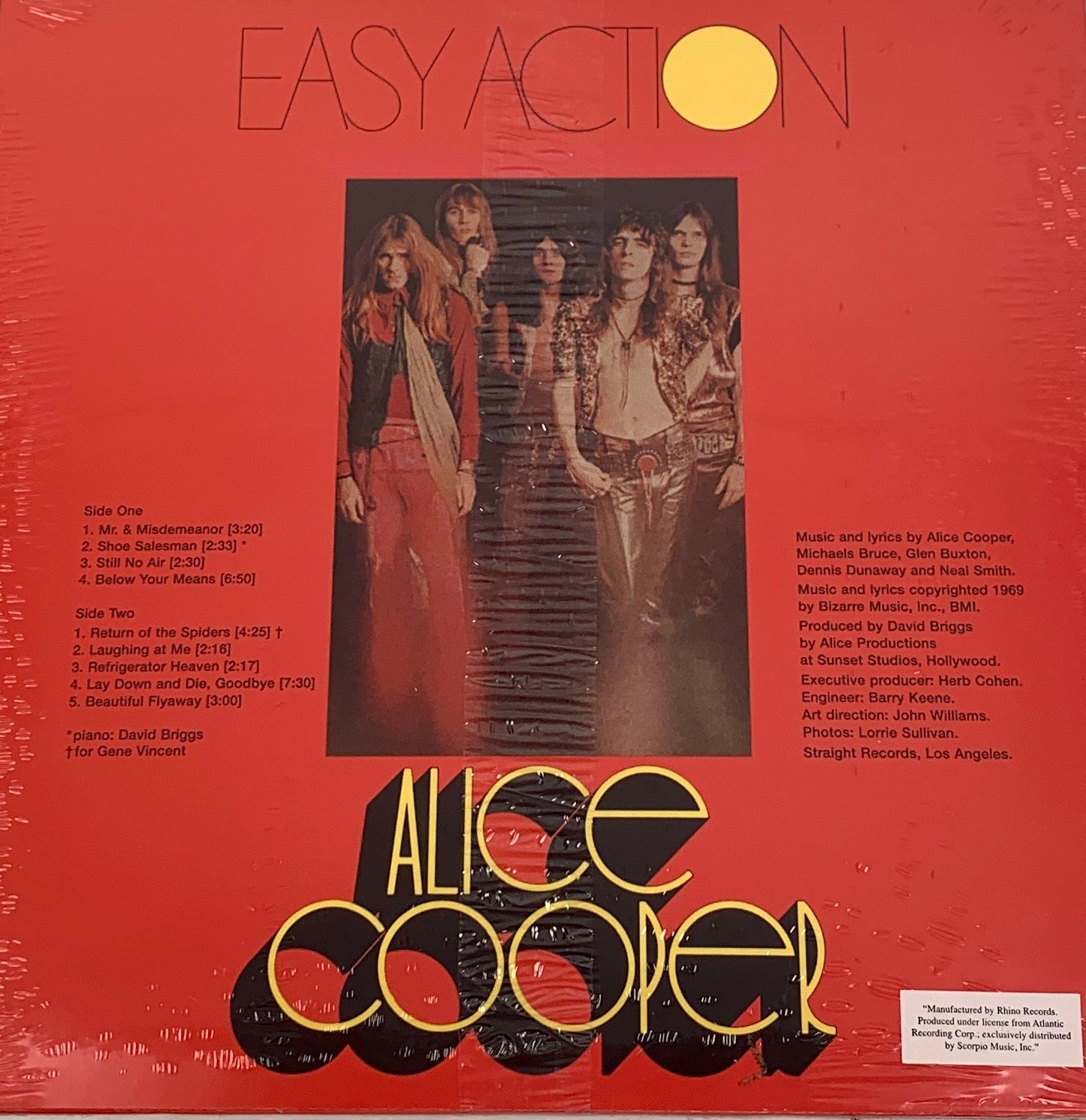 Alice Cooper - Easy Action LP