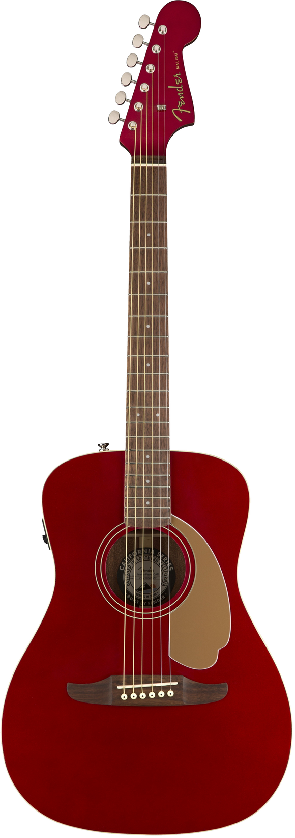 Fender Malibu Player Acoustic / Electric Guitar - Candy Apple Red