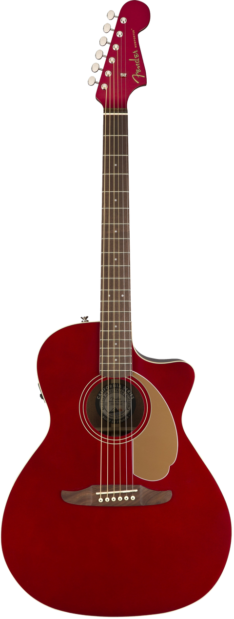 Fender Newporter Player Acoustic / Electric Guitar - Candy Apple Red
