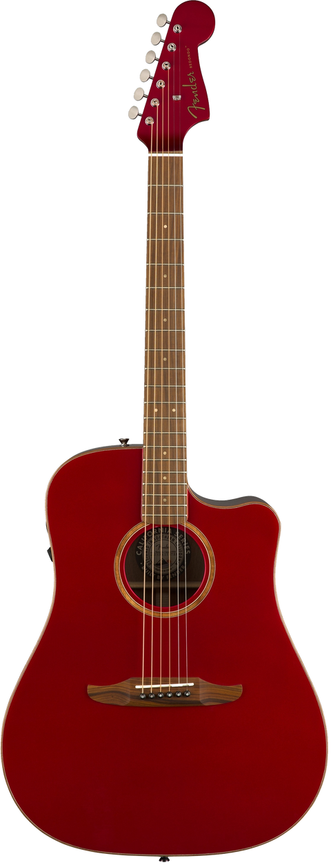 Fender Malibu Classic Acoustic / Electric Guitar - Hot Rod Red Metallic