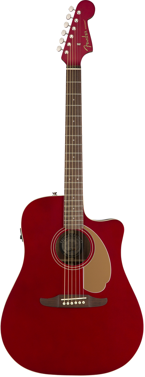 Fender Redondo Player Acoustic / Electric Guitar - Candy Apple Red