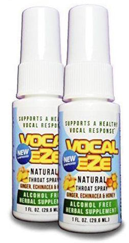 (2-pack) Vocal-Eze Vocalists' and Singers' Lubricating Throat Spray - Green Peak Wellness