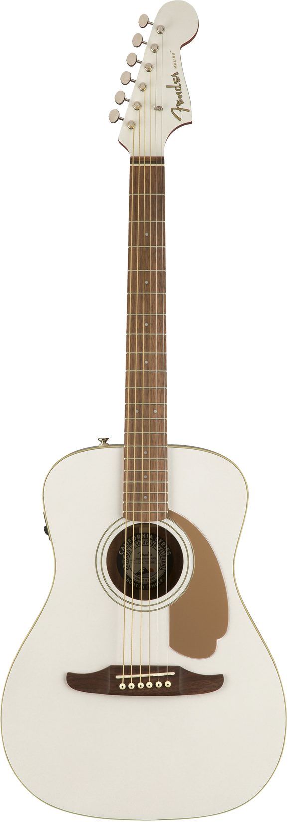 Fender Malibu Player Acoustic / Electric Guitar - Arctic Gold