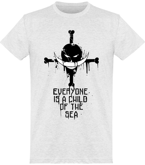 Barbe Blanche One Piece T-shirt Homme cendre