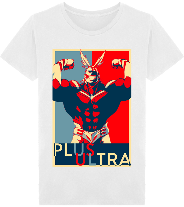 t-shirt homme blanc hope All Might du manga my hero academia de shonen arina