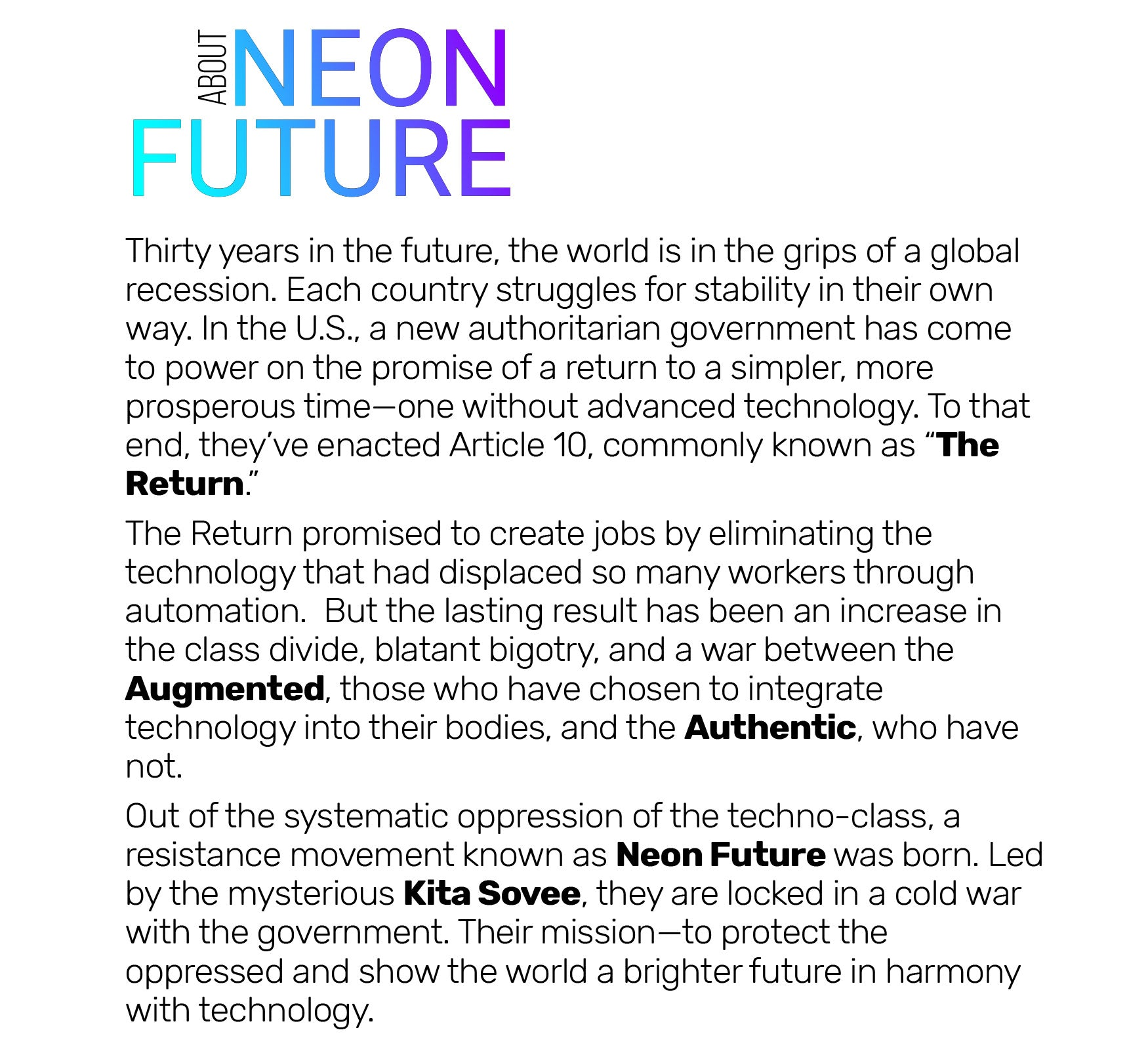 About Neon Future (Text)