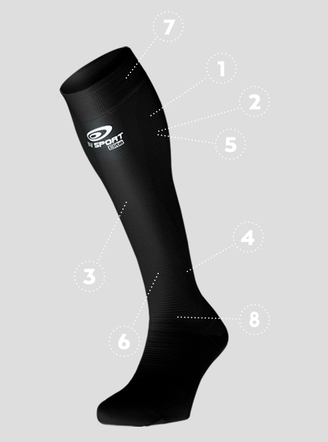 RECOVERY SOCKS - PRORECUP ELITE EVO FEATURES