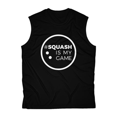 Men's Sleeveless #SquashIsMyGame Performance Tee, SIMG-W-80000007-90000001
