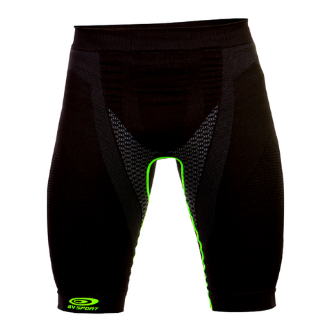 BV Sport Nature3R Black/Green Compression Short