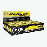 Dunlop Pro Double Yellow Squash Balls - Box of 12
