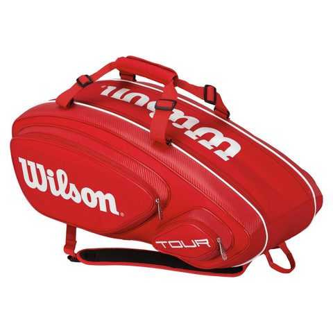 Wilson Tour V 9 Pack Racquet Bag, Red