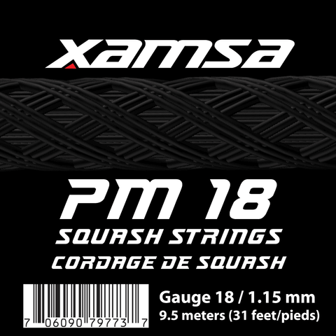 Xamsa PM 18 Squash Strings 9.5 meters Set