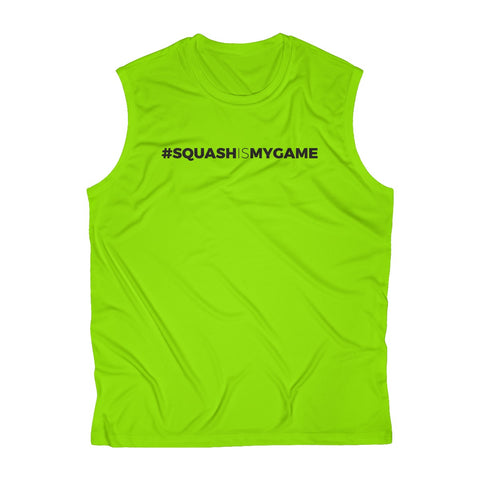 Men's Sleeveless #SquashIsMyGame Performance Tee, SIMG-BK-80000010-90000001