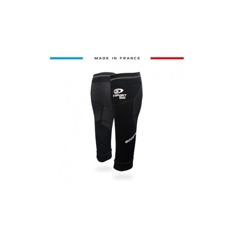 "BV Sport BOOSTER Elite EVO2 (New 2019 Design) Black Compression Calf Sleeves ""FOR EFFORT"" (Pair)"