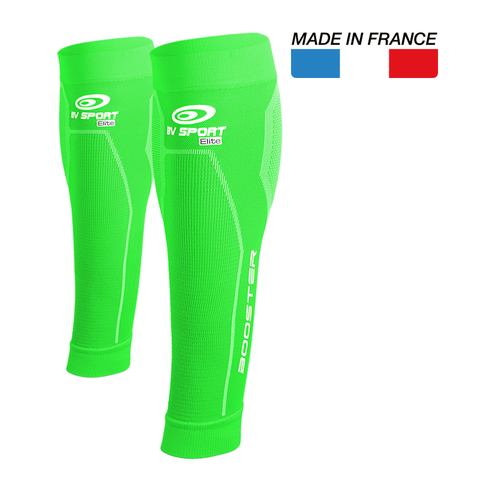 "BV Sport Booster Elite Green Compression Calf Sleeves ""FOR EFFORT"" (Pair)"