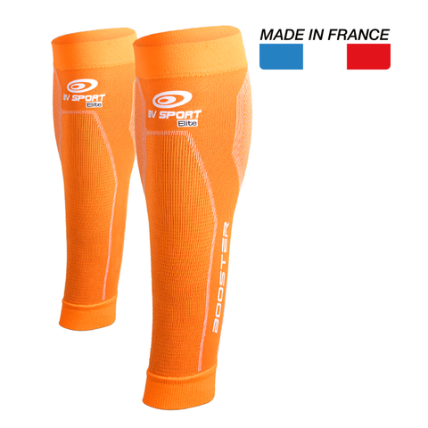 "BV Sport Booster Elite Orange Compression Calf Sleeves ""FOR EFFORT"" (Pair)"