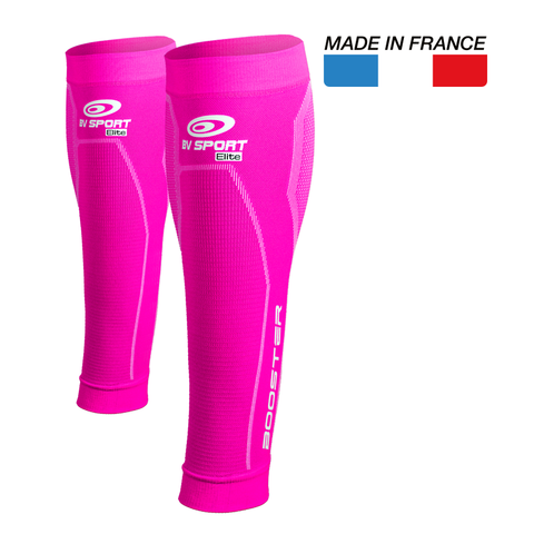 "BV Sport Booster Elite Pink Compression Calf Sleeves ""FOR EFFORT"" (Pair)"
