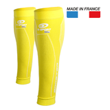 "BV Sport Booster Elite Yellow Compression Calf Sleeves ""FOR EFFORT"" (Pair)"