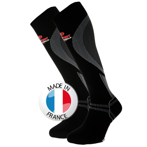 "BV Sport PRORECUP ELITE Black Compression Socks ""FOR RECOVERY"" (Pair)"