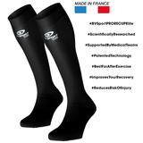 "BV Sport PRORECUP ELITE EVO Black Compression Socks ""FOR RECOVERY"" (Pair)"