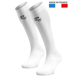 "BV Sport PRORECUP ELITE EVO White Compression Socks ""FOR RECOVERY"" (Pair)"