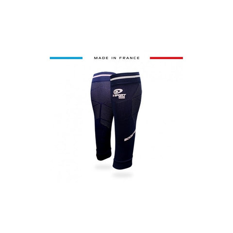 "BV Sport BOOSTER Elite EVO2 (New 2019 Design) Navy & White Compression Calf Sleeves ""FOR EFFORT"" (Pair)"