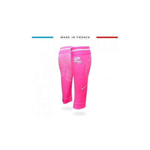 "BV Sport BOOSTER Elite EVO2 (New 2019 Design) Pink Compression Calf Sleeves ""FOR EFFORT"" (Pair)"