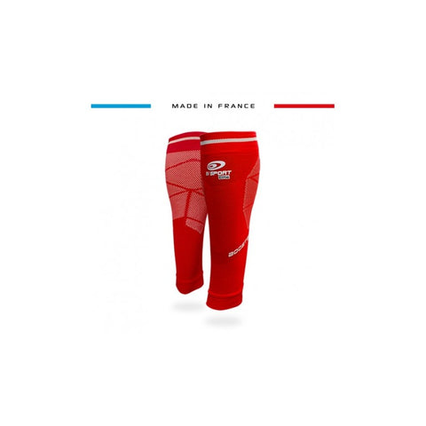 "BV Sport BOOSTER Elite EVO2 (New 2019 Design) Red Compression Calf Sleeves ""FOR EFFORT"" (Pair)"