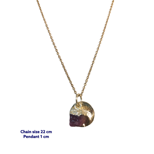 Minerva Mini Raw Amethyst Necklace