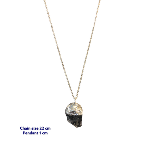 Mini Raw Onyx Stone Necklace