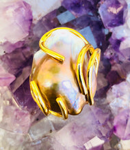 Baroque Pearl Silver Ring